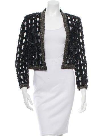 Embellished Open Front Jacket