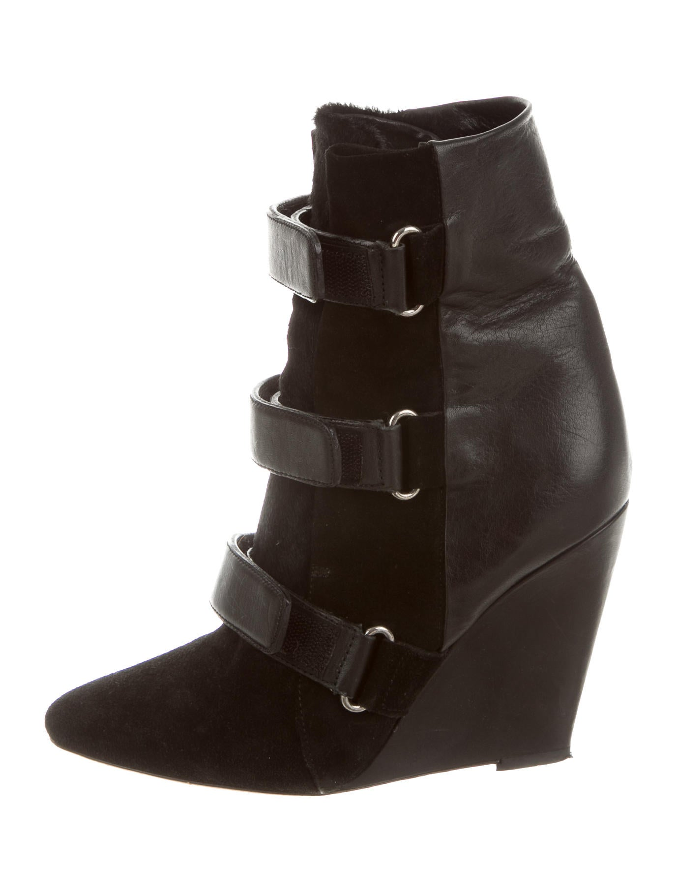 marant suede wedge ankle boots shoes isa36410