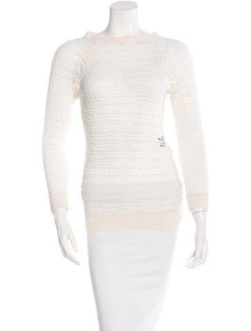 Isabel Marant Three-Quarter Sleeve Open Knit Top None