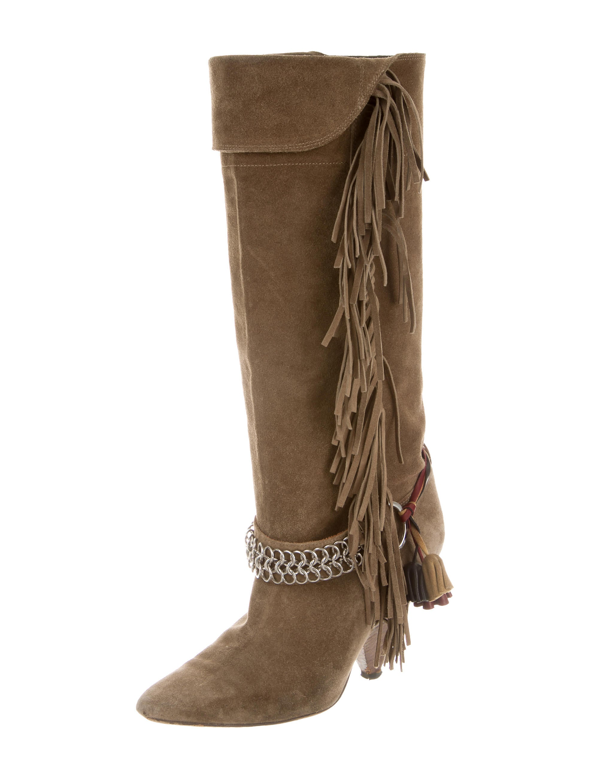 marant fringe knee high boots shoes isa36739