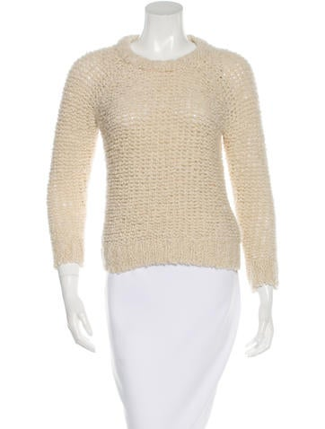 Isabel Marant Cropped Bouclé Knit Sweater None