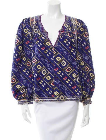 Isabel Marant Oversize Printed Top None