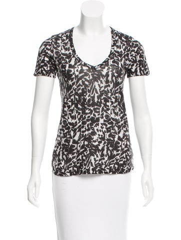 Isabel Marant Linen Abstract Print Top None