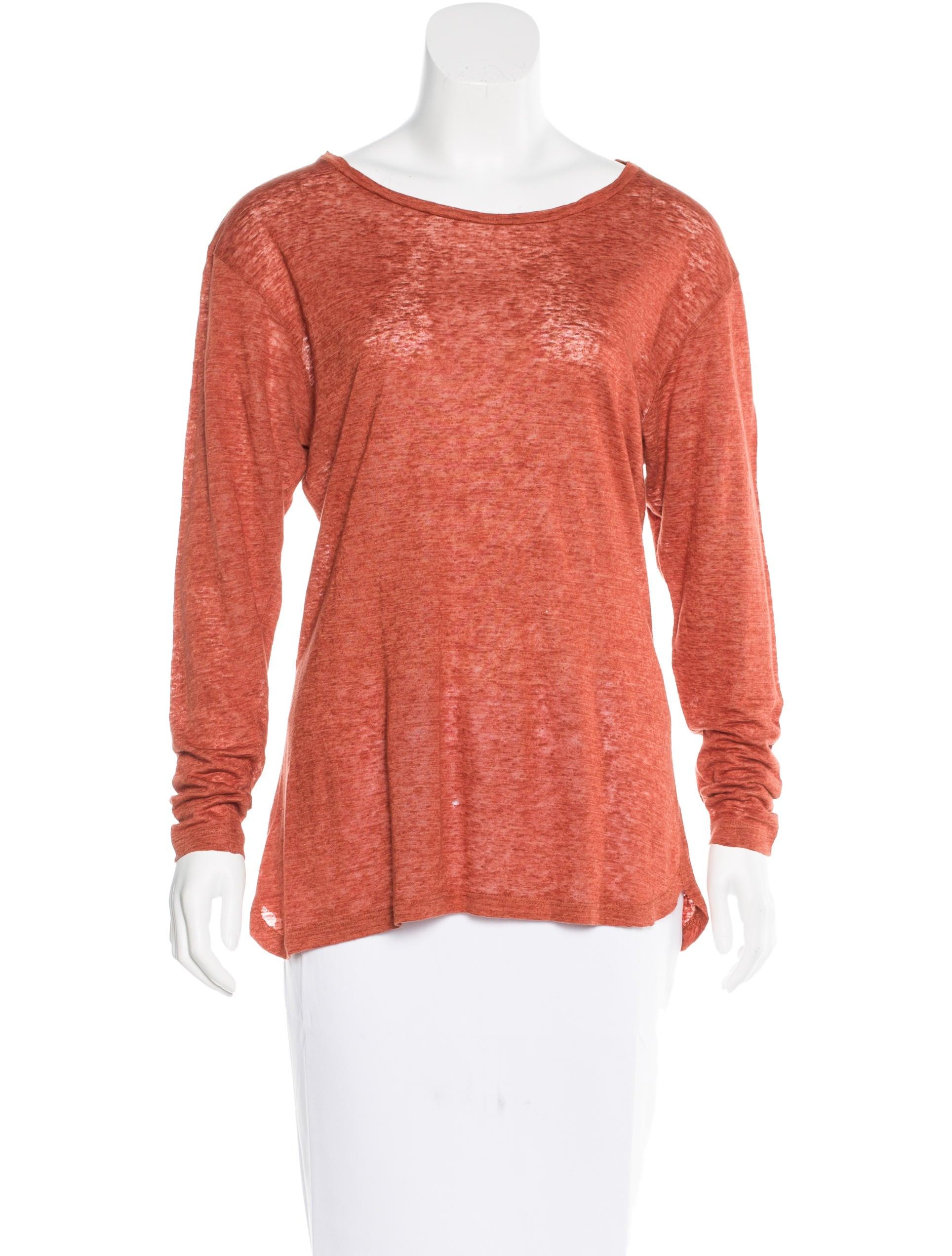 Isabel marant linen long sleeve t shirt clothing for Linen long sleeve shirt