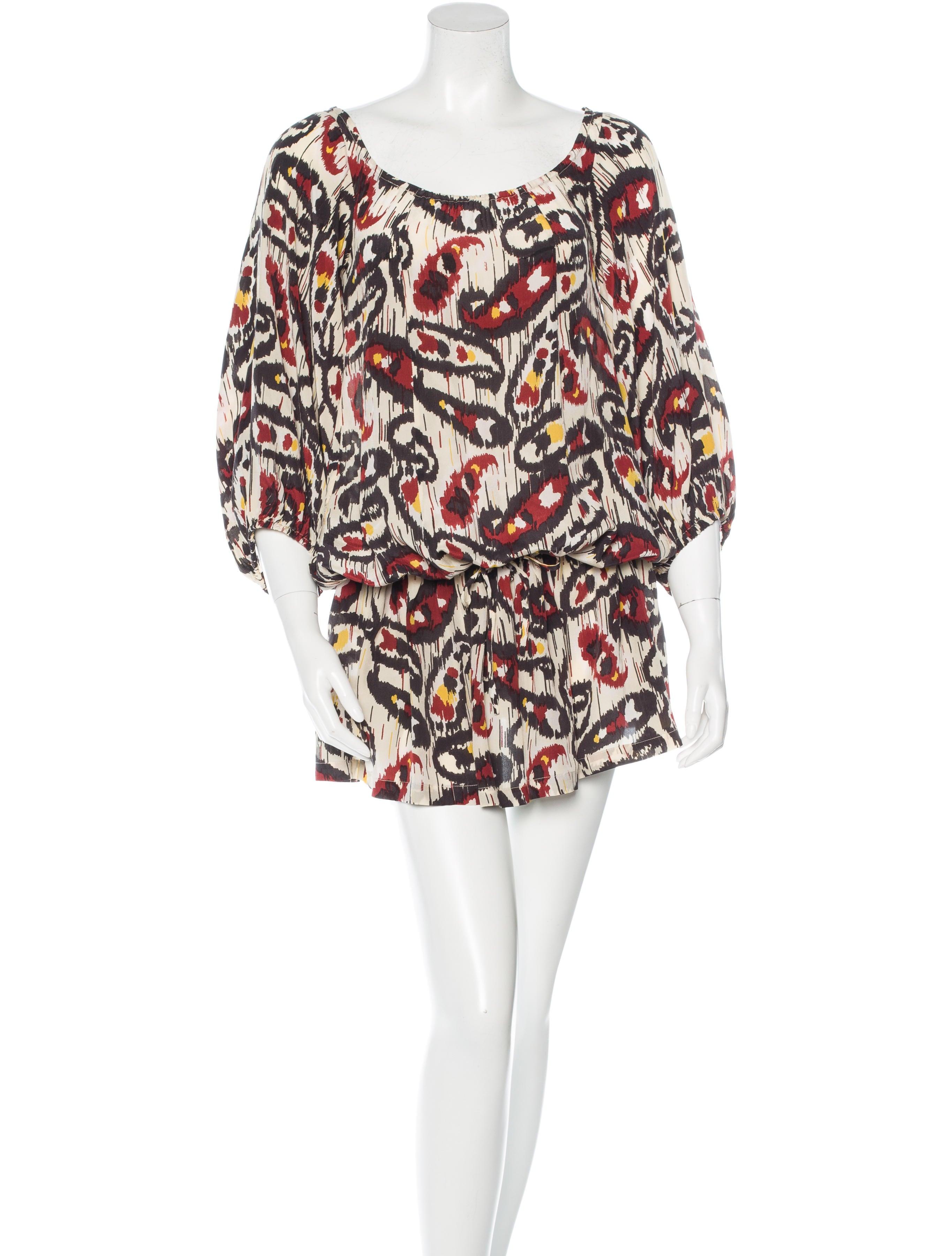 Isabel marant silk printed dress clothing isa37005 for Isabel marant shirt dress