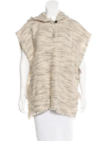 Isabel Marant Wool Hooded Poncho