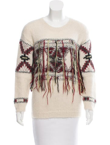 Isabel Marant Fringe Alpaca Sweater None