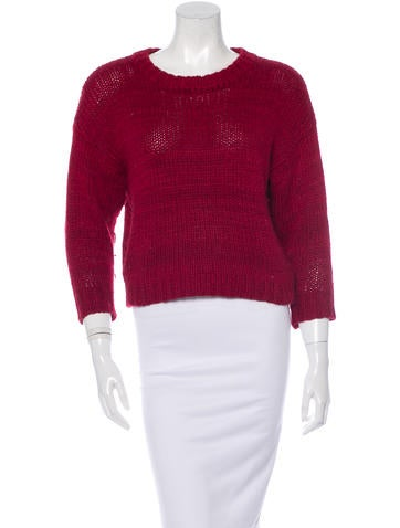 Isabel Marant Chunky Knit Long Sleeve Sweater None
