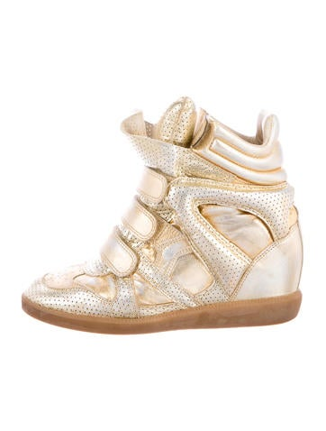 Metallic Becket Wedge Sneakers