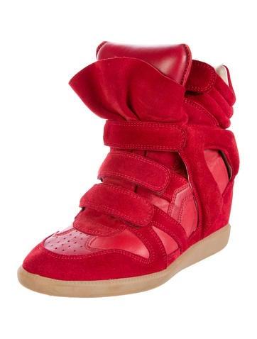 Beckett Suede Wedge Sneakers
