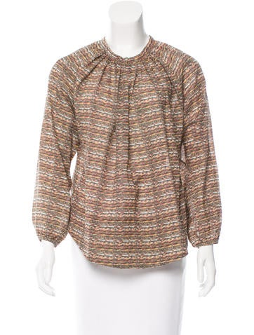 Isabel Marant Oversize Abstract Print Top None