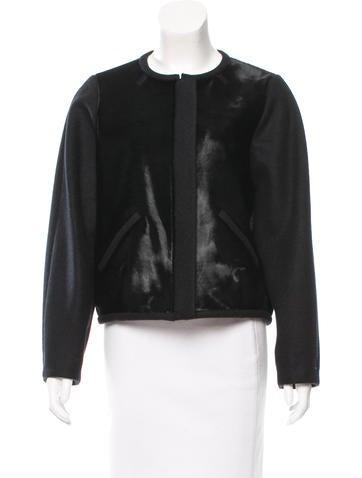 Isabel Marant Leather-Paneled Wool Jacket w/ Tags