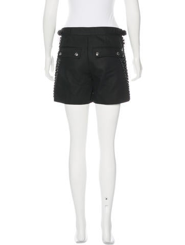 Lace-Up High-Rise Shorts