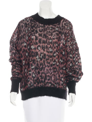 Isabel Marant Leopard Mohair Sweater w/ Tags None
