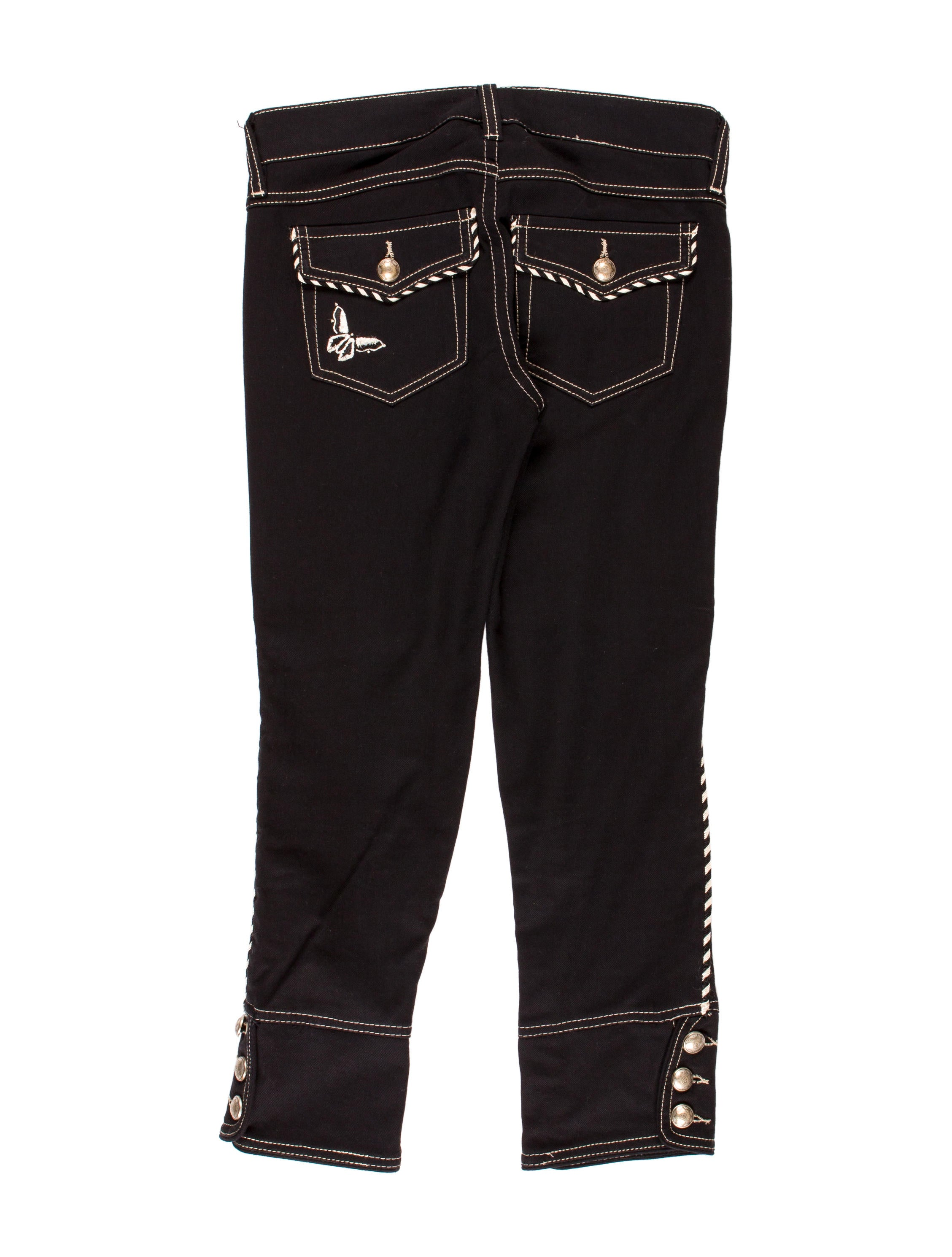 Isabel Marant Embroidered Cropped Jeans - Clothing - ISA38046 | The RealReal