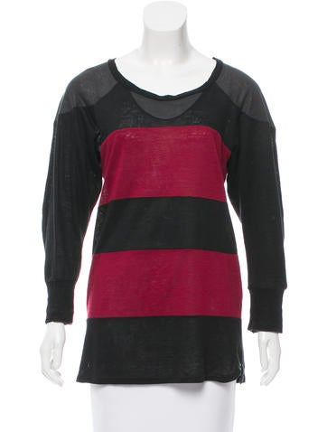 Isabel Marant Striped Long Sleeve Top None