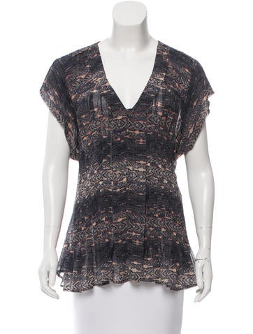 Isabel Marant Silk Printed Top None