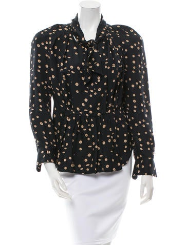 Isabel Marant Silk Dot Print Top None