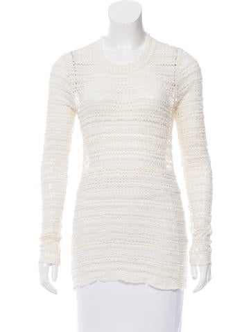 Isabel Marant Open Knit Long Sleeve Top None