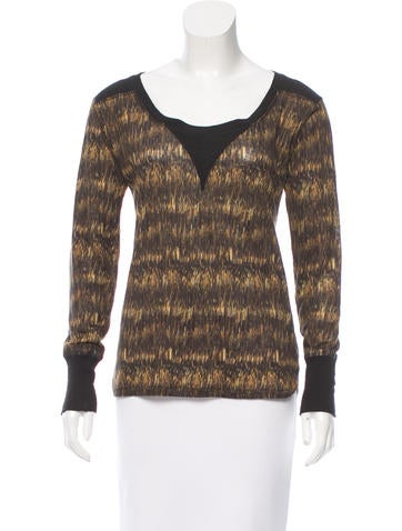 Isabel Marant Printed Scoop Neck Top None