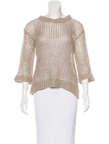 Isabel Marant Linen Open Knit Sweater None
