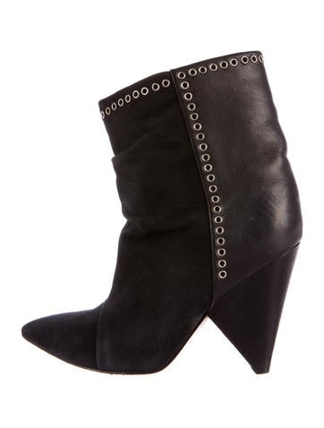 Isabel Marant Leather & Suede Andrew Booties