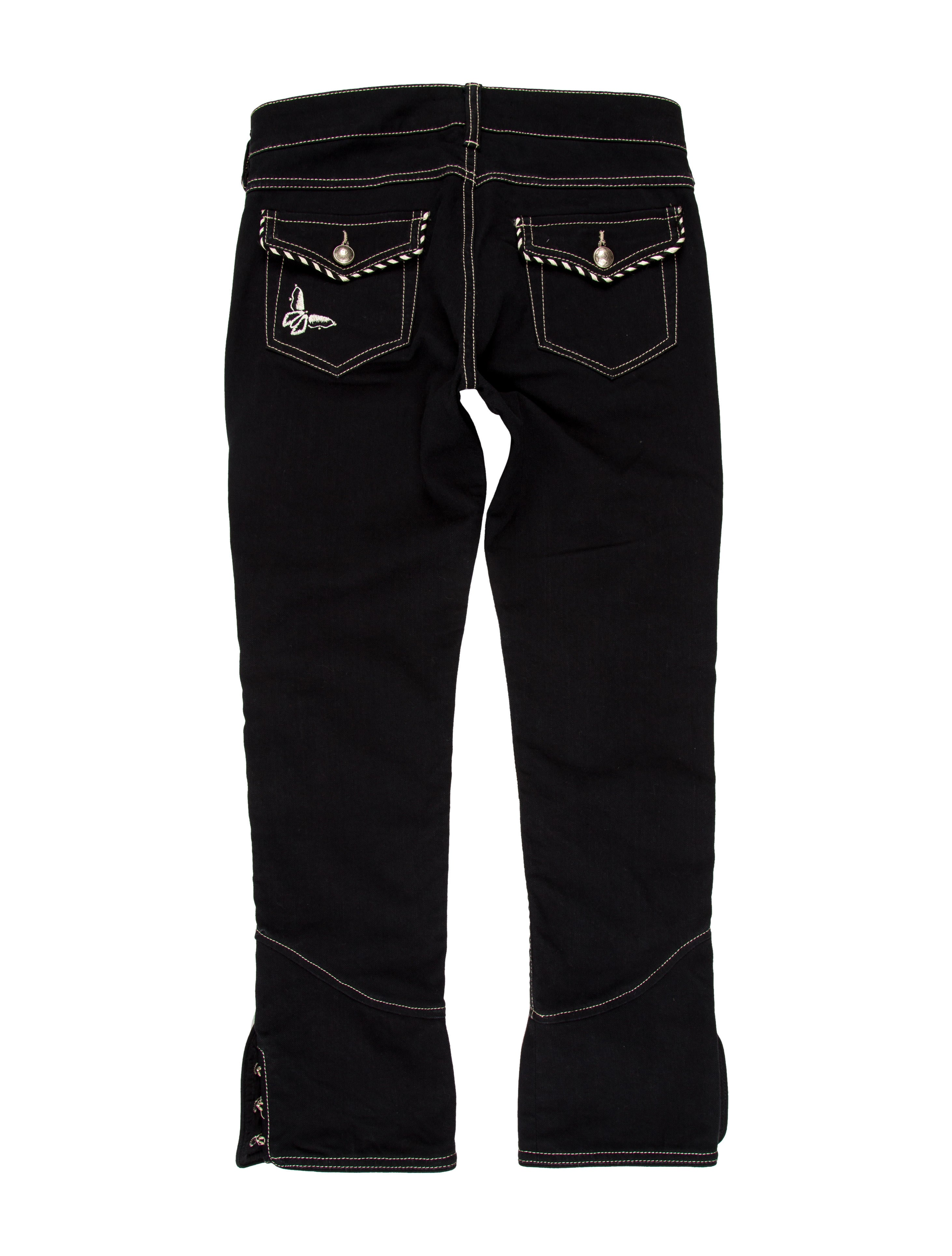 Isabel Marant Embroidered Cropped Jeans - Clothing - ISA39500 | The RealReal
