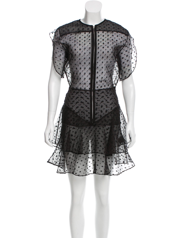 Isabel marant silk embroidered dress clothing isa39565 for Isabel marant shirt dress