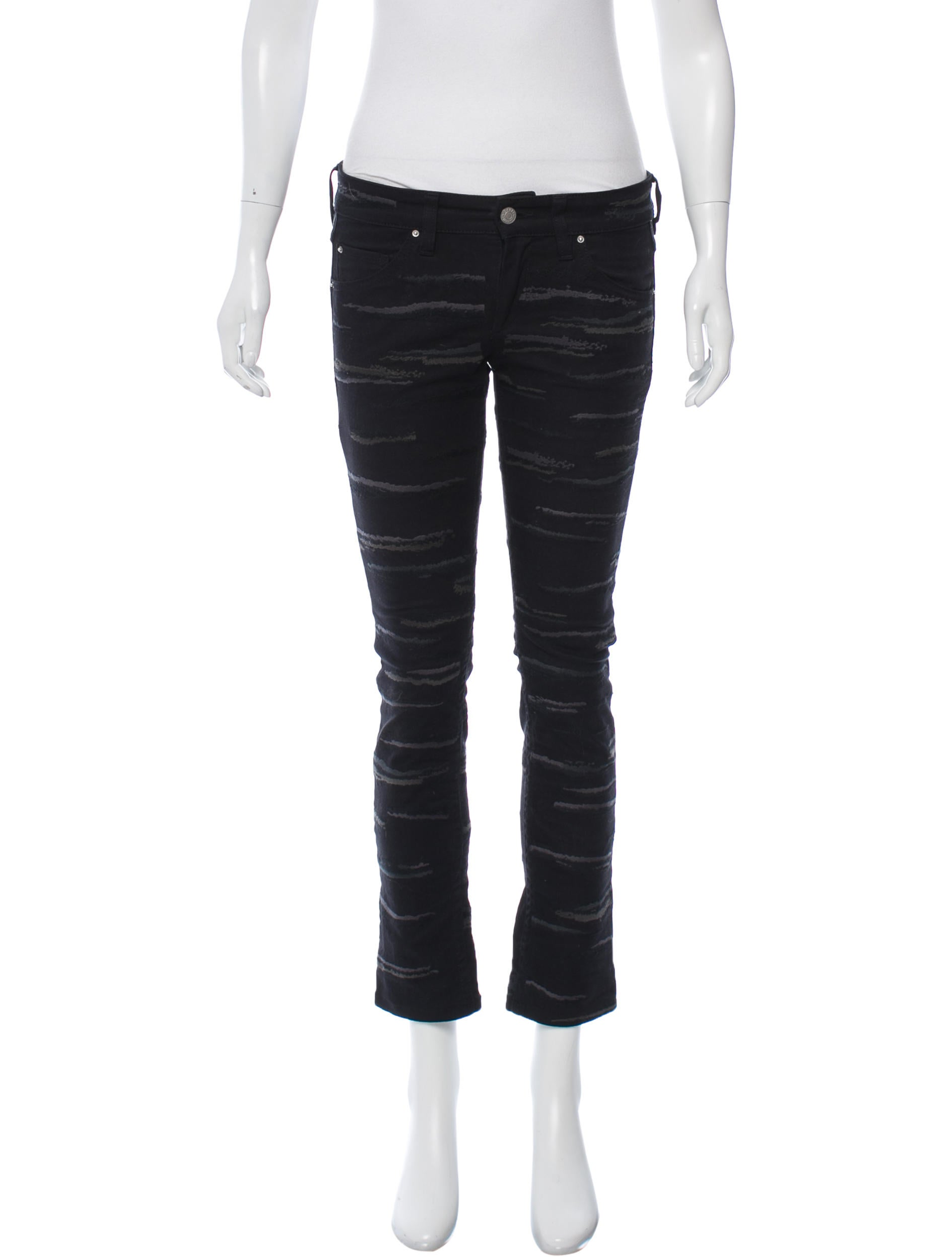 Isabel marant embroidered straight leg jeans clothing