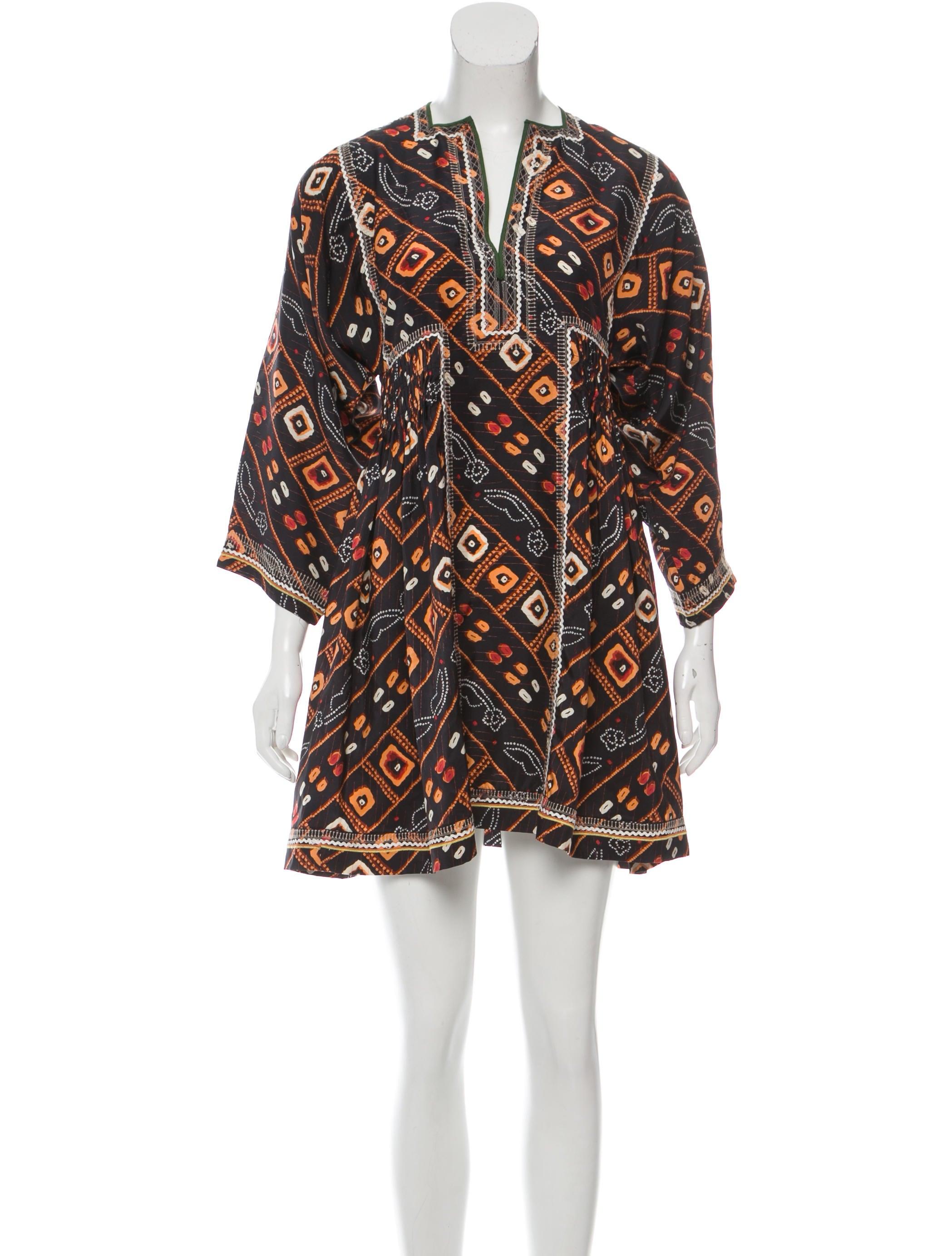Isabel marant silk printed dress clothing isa39807 for Isabel marant shirt dress