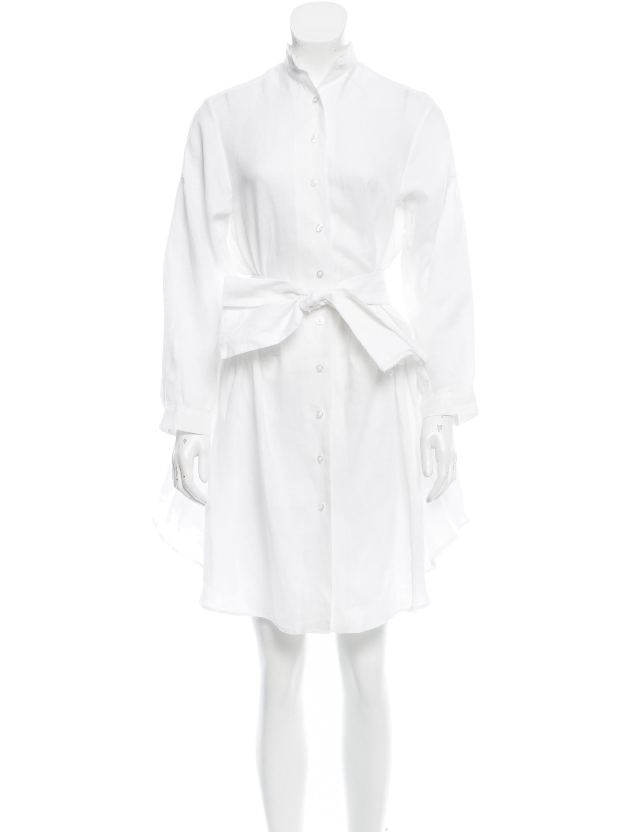 Isabel marant linen button up dress w tags clothing for Linen button up shirt womens