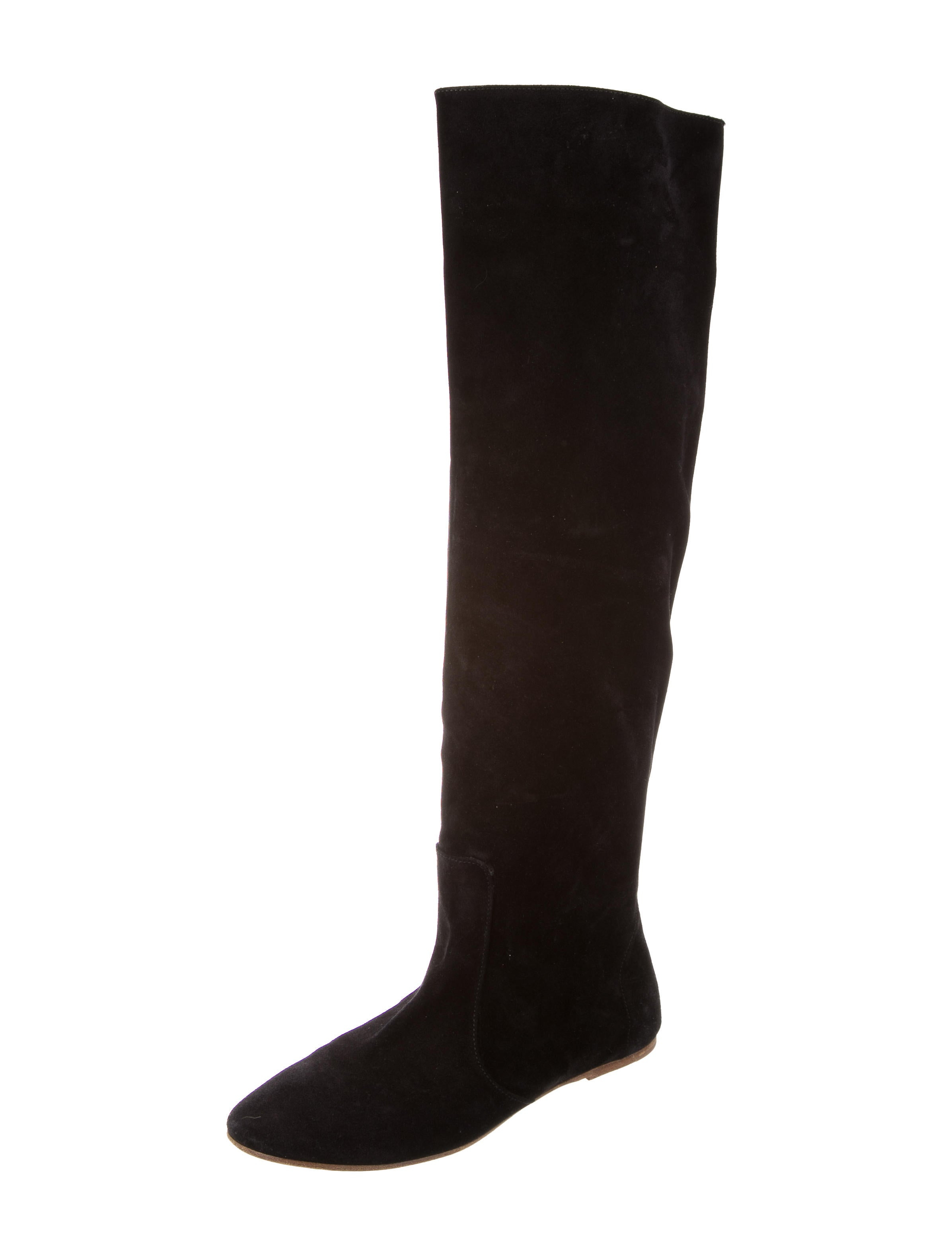 marant suede knee high boots shoes isa39955