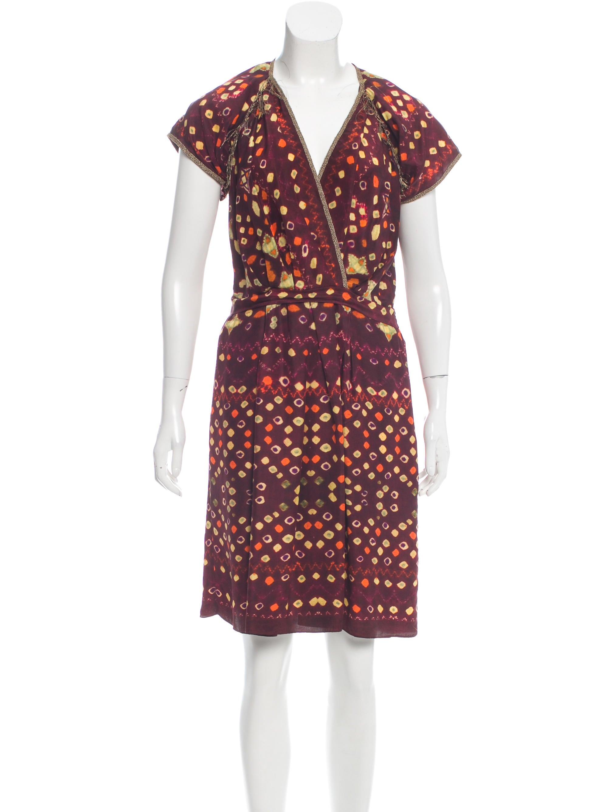 Isabel marant silk printed dress clothing isa39995 for Isabel marant shirt dress