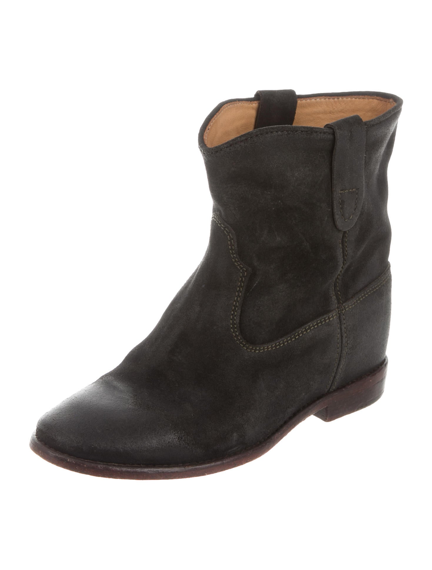isabel marant crisi ankle boots shoes isa40007 the realreal. Black Bedroom Furniture Sets. Home Design Ideas