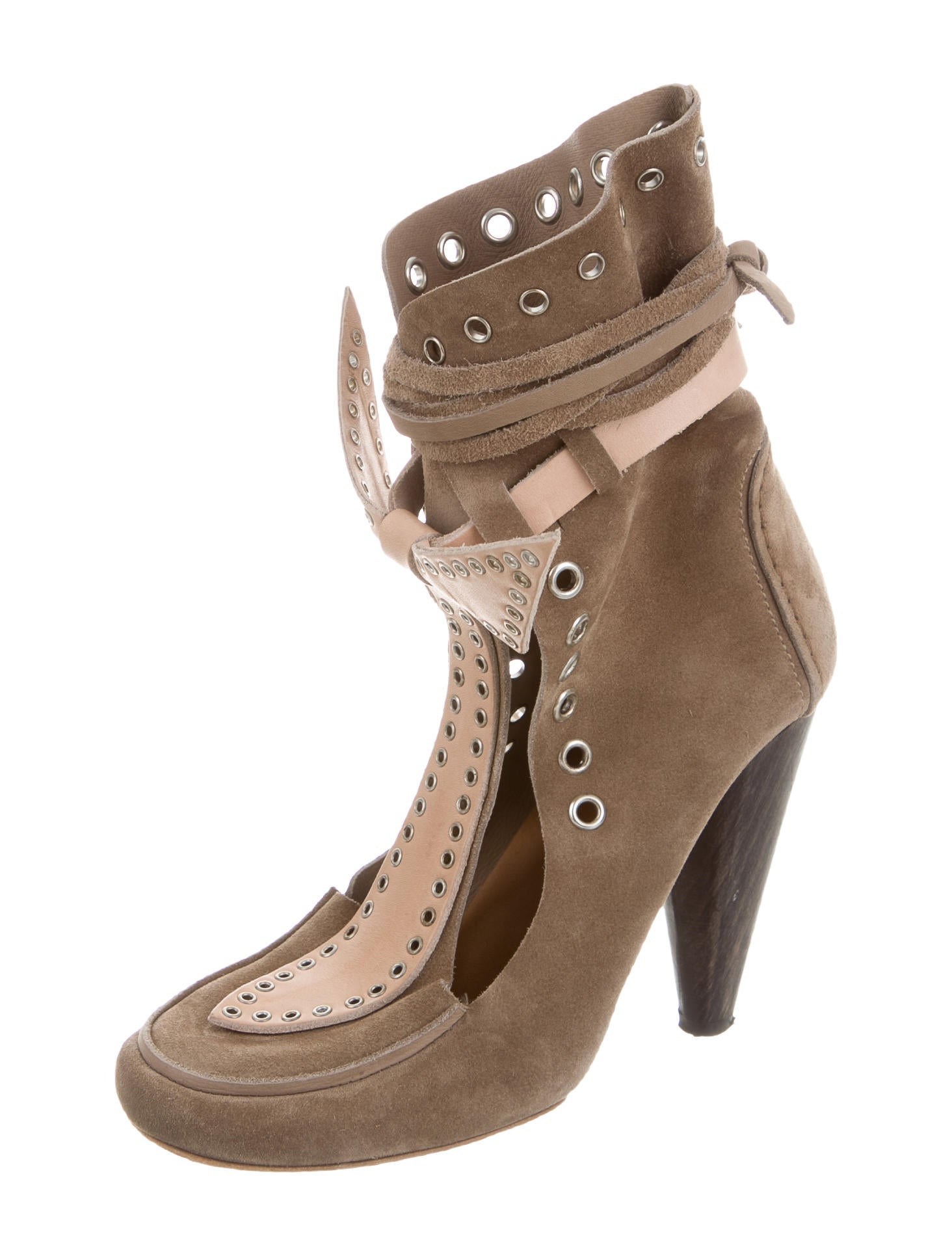 marant suede lace up ankle boots shoes isa40021