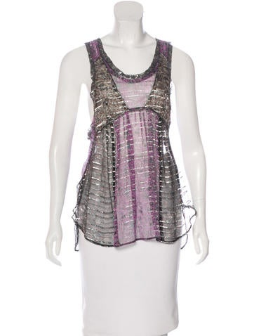 Isabel Marant Printed Silk Top None