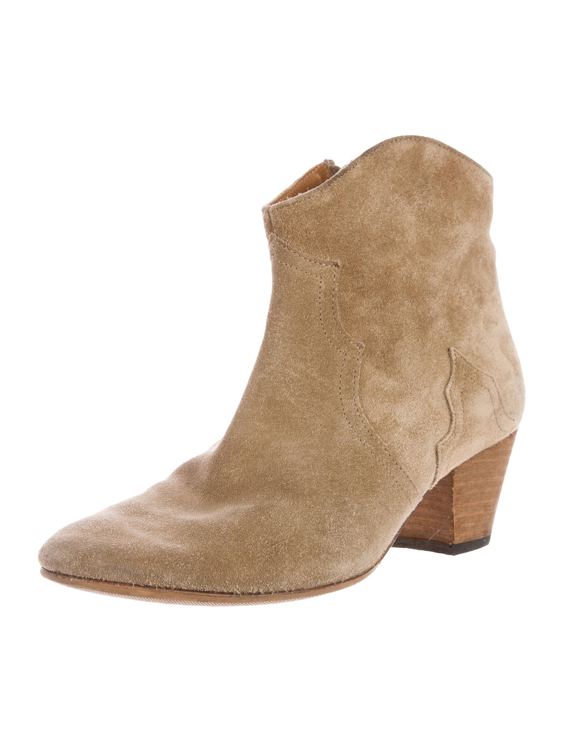 marant dicker suede ankle boots shoes isa40034