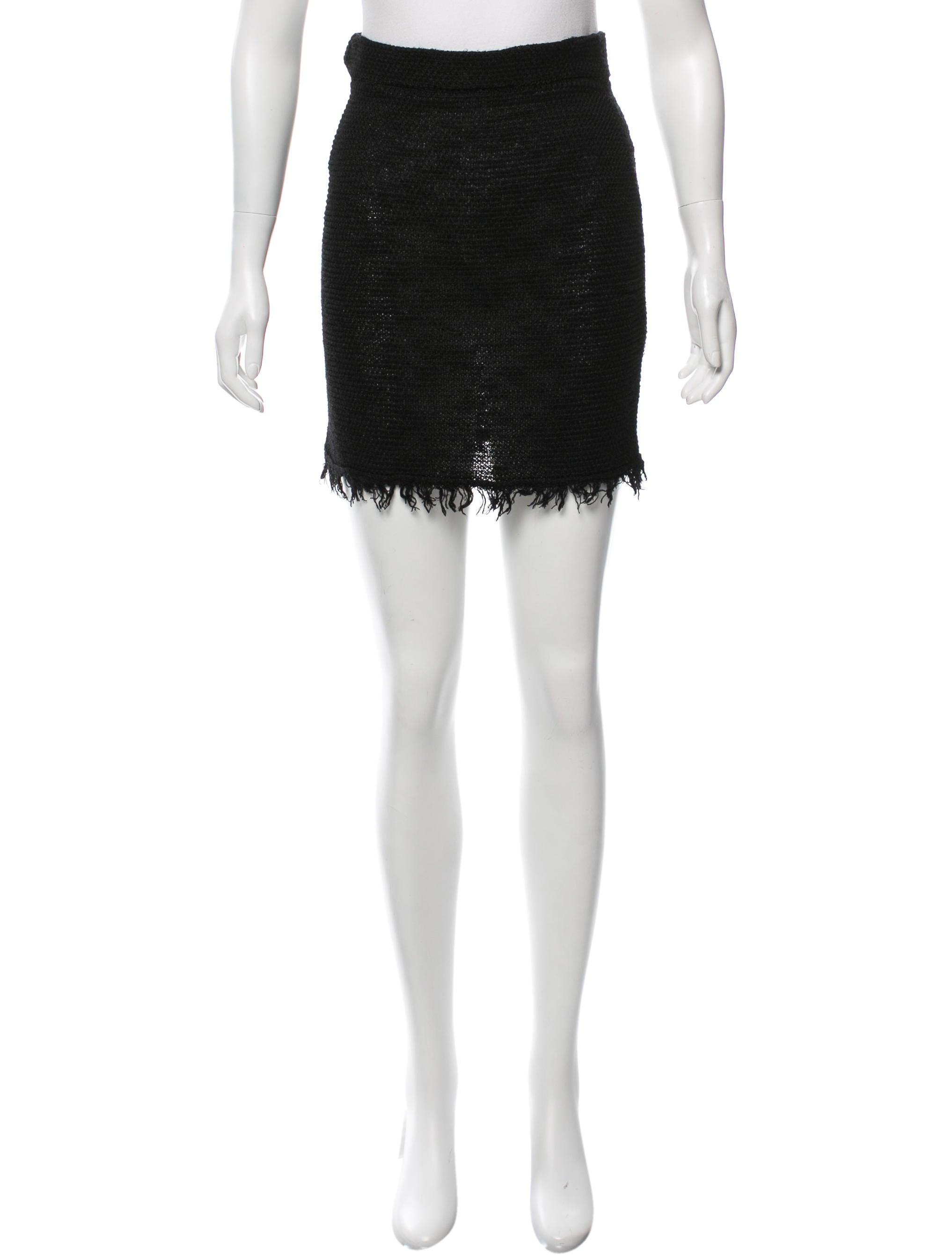 marant fringe pencil skirt clothing isa40082