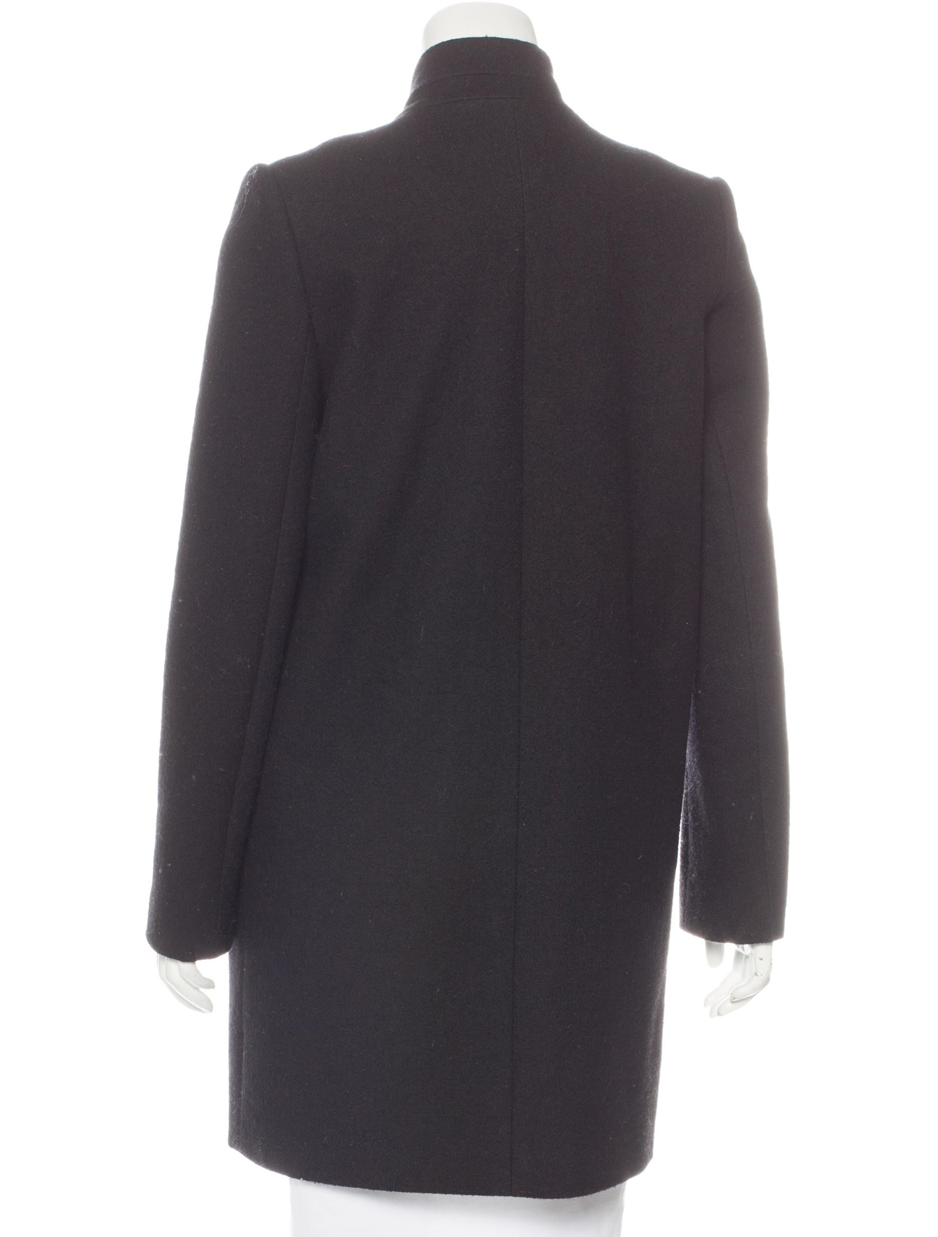 More Details Mackage Mila Button-Front Hooded Wool Trench Coat w/ Fur Trim Details Mackage