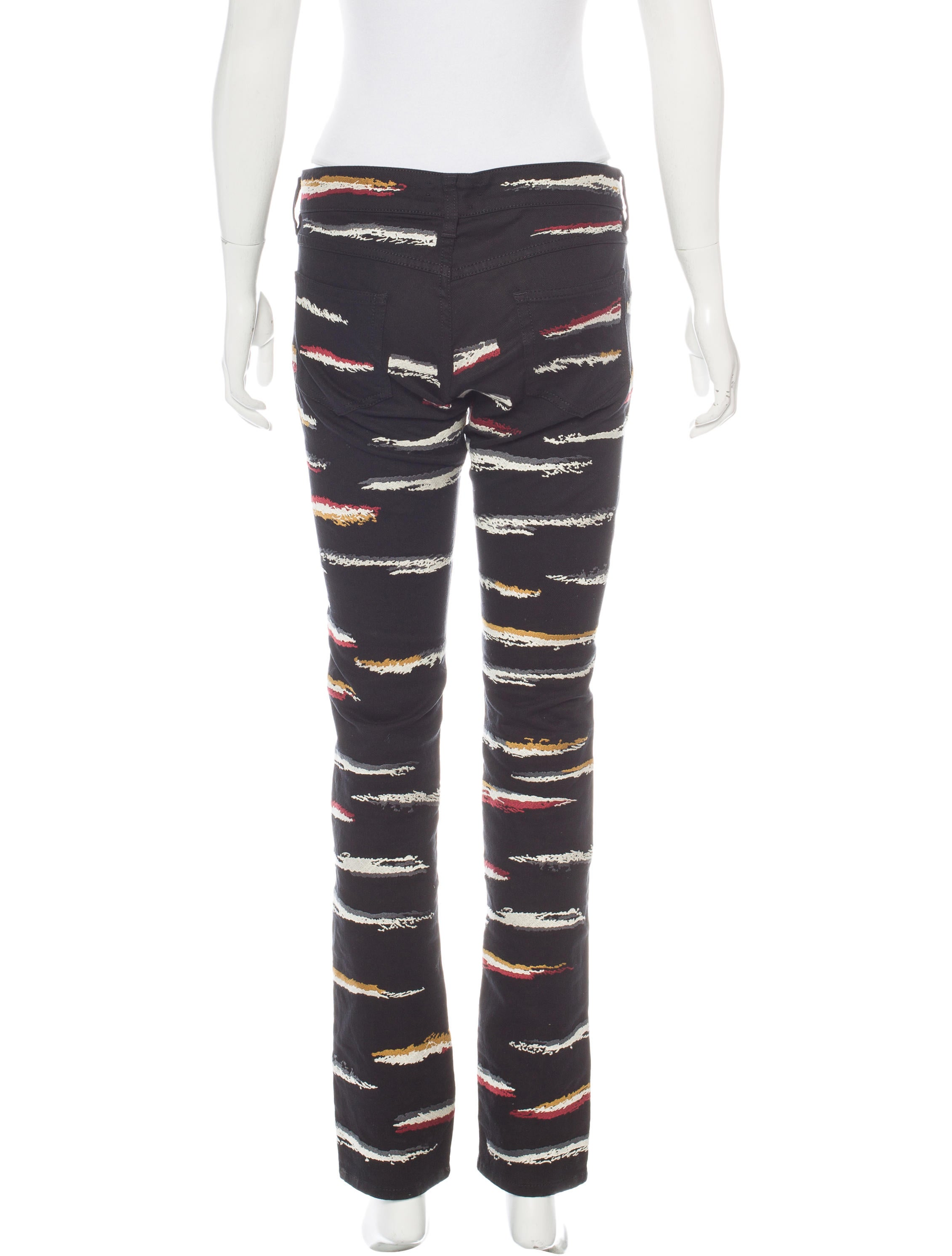 Isabel marant embroidered straight leg jeans w tags