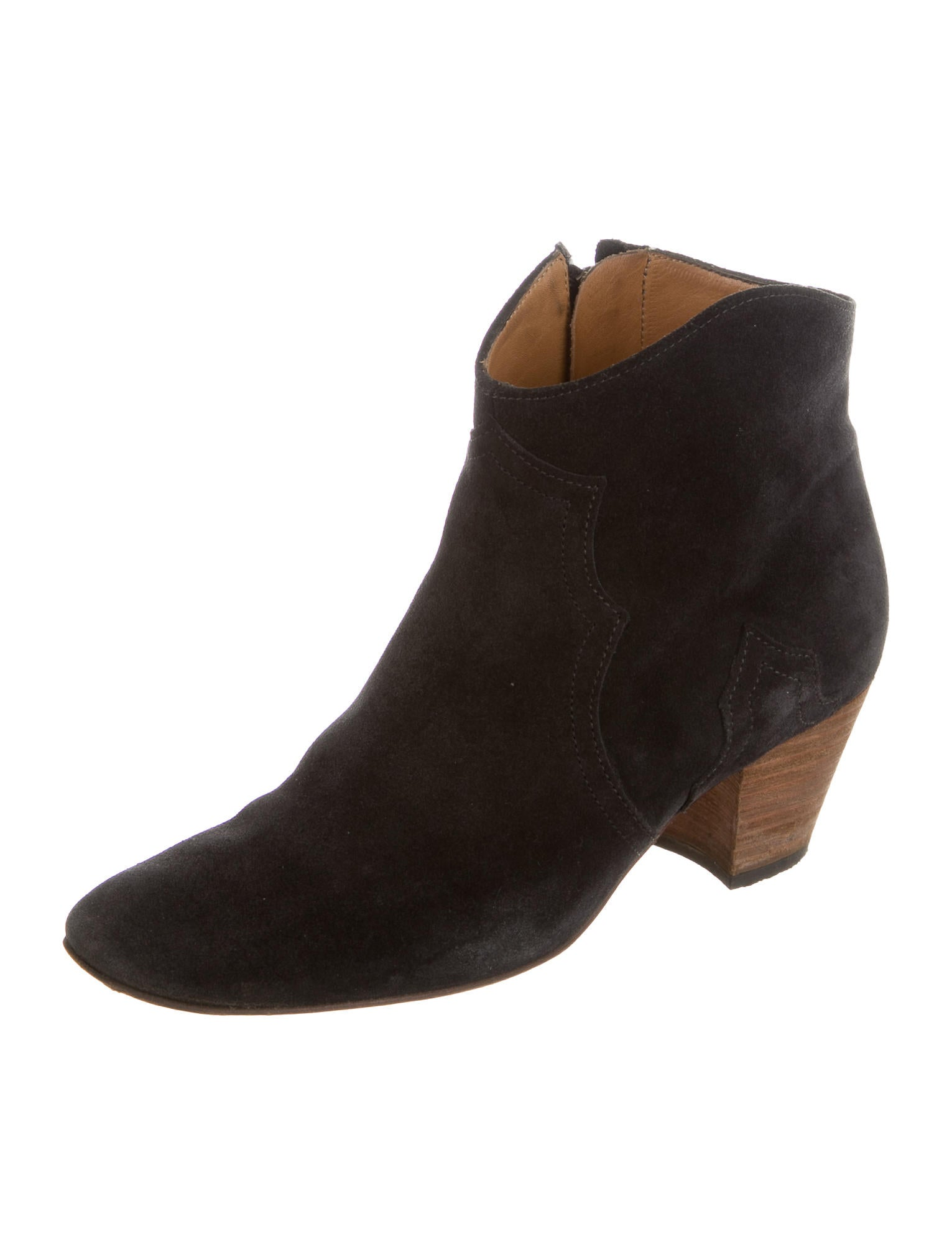Isabel Marant Suede Dicker Booties - Shoes