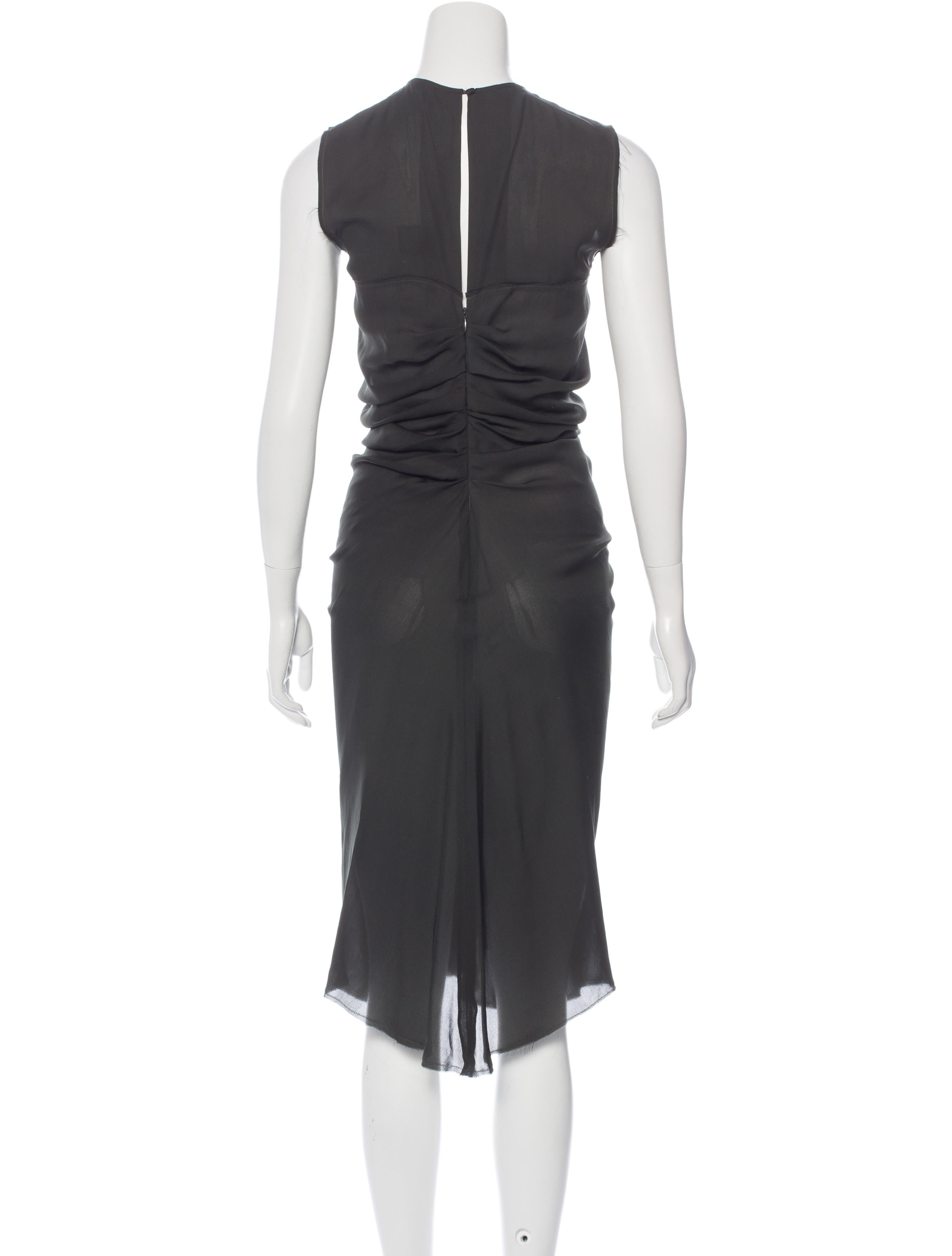 Isabel marant silk midi dress clothing isa40249 the for Isabel marant shirt dress