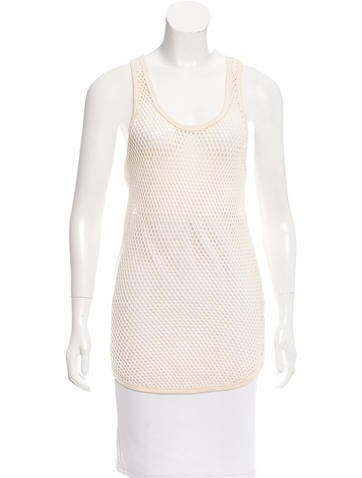 Isabel Marant Open Knit Sleeveless Top None