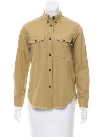 Isabel Marant Long Sleeve Button-Up Top None