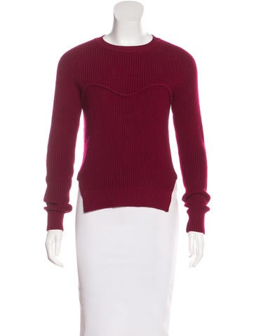 Isabel Marant Long Sleeve Rib Knit Sweater None
