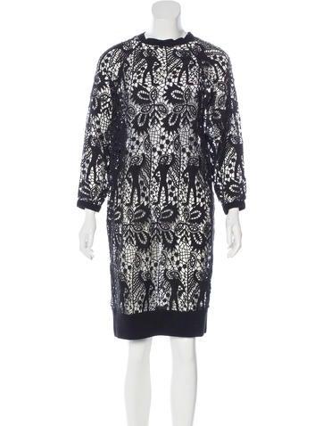 Isabel Marant Crochet Sweater Dress None