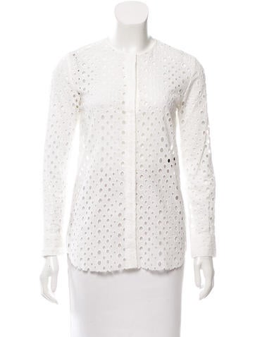 Isabel Marant Long Sleeve Eyelet Top None