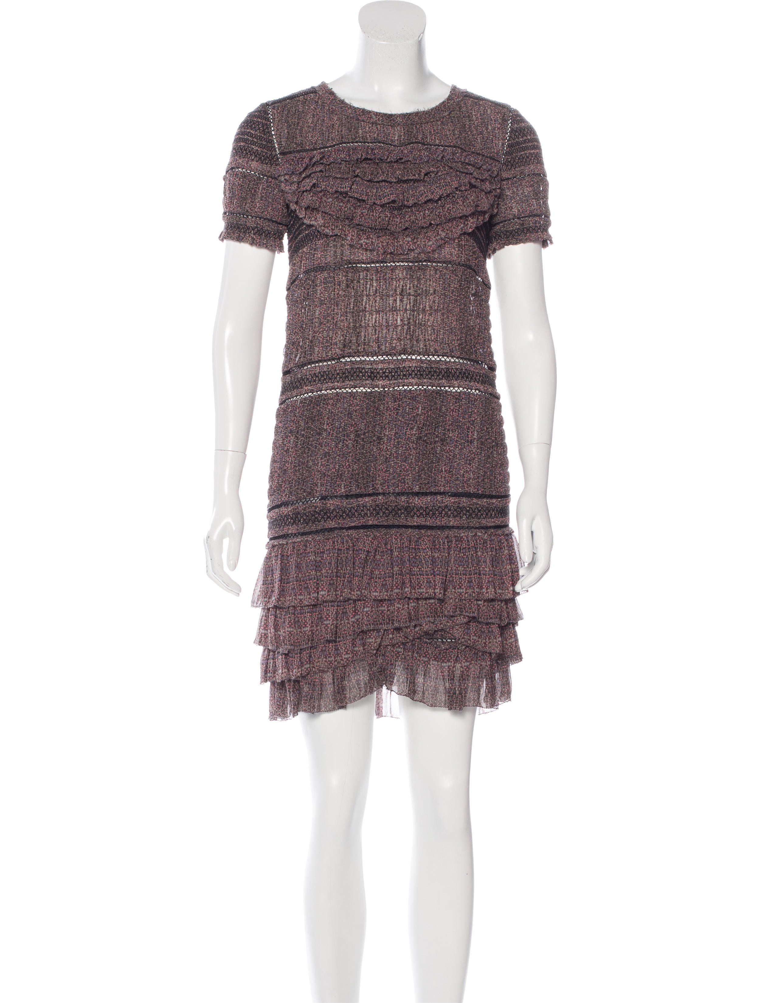Isabel marant silk mini dress clothing isa40698 the for Isabel marant shirt dress
