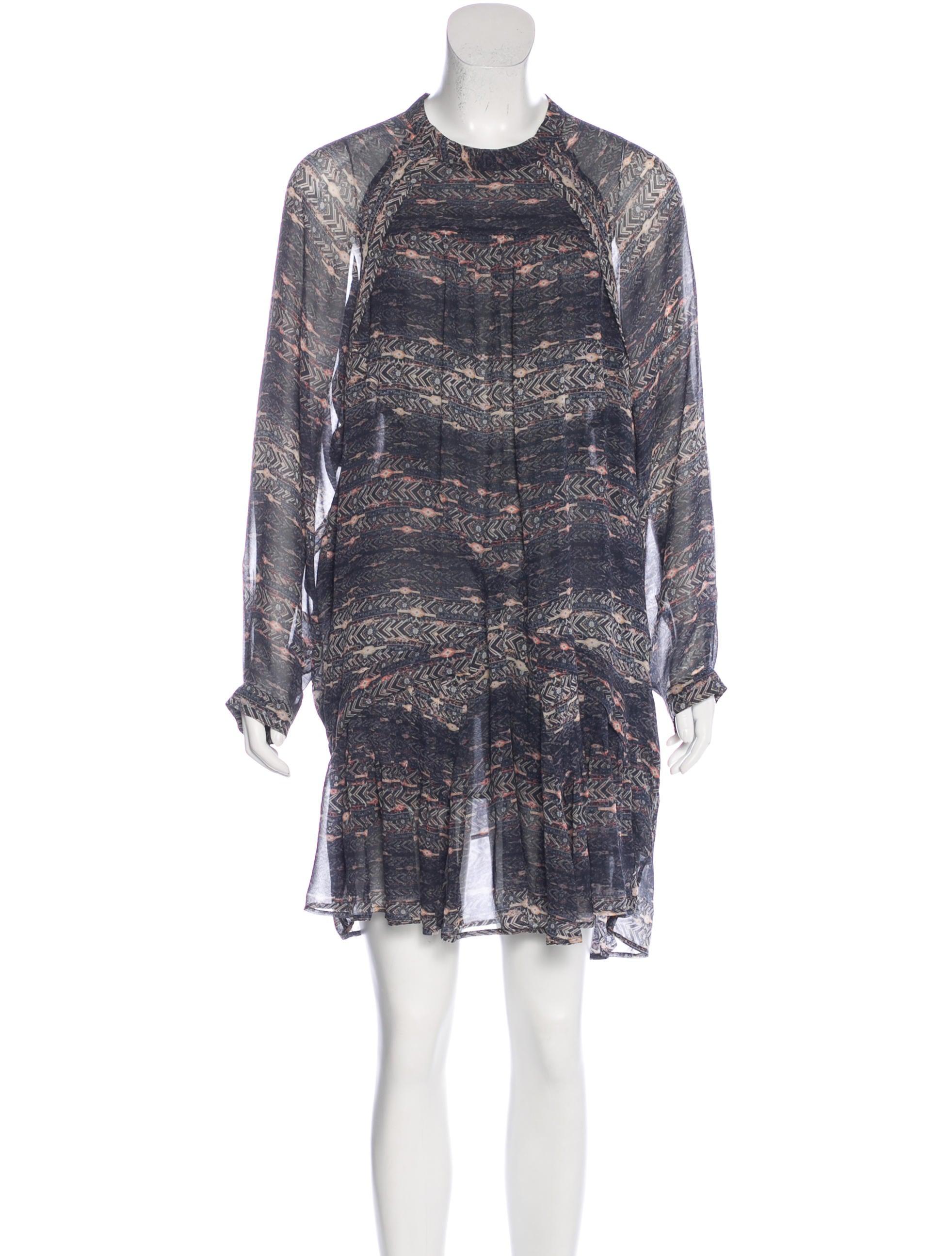Isabel marant silk printed dress clothing isa40700 for Isabel marant shirt dress