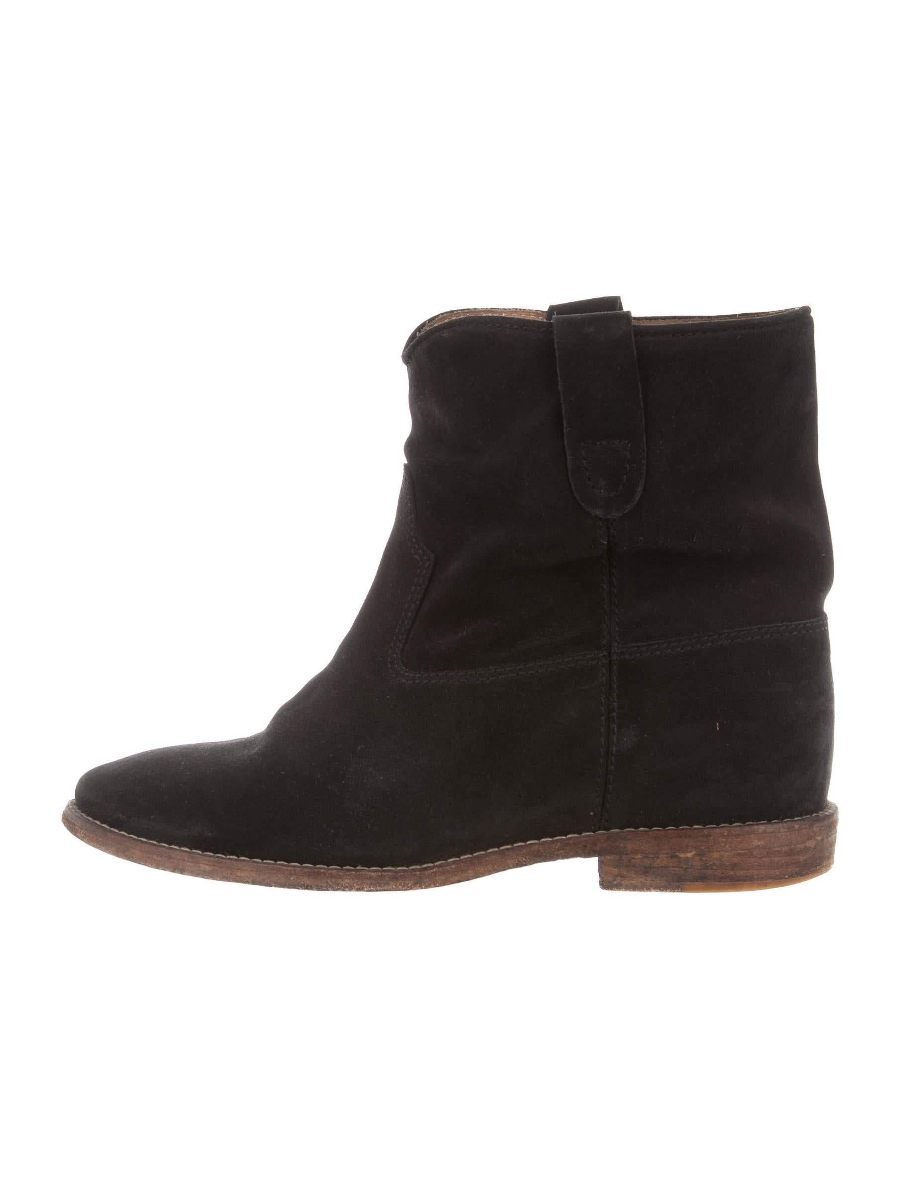 isabel marant suede ankle boots shoes isa40755 the realreal. Black Bedroom Furniture Sets. Home Design Ideas